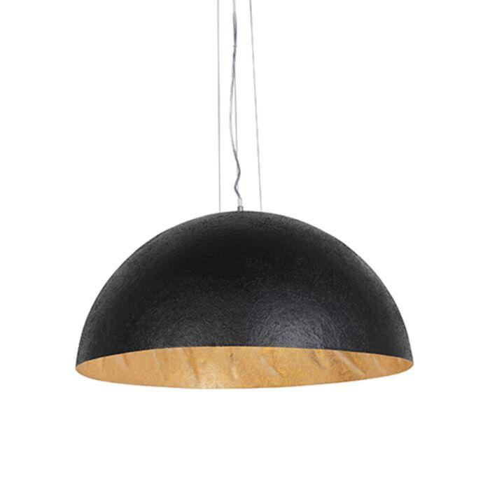 Priemyselná-závesná-lampa-čierna-so-zlatom-70-cm---Magna
