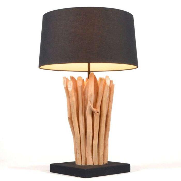 Stolová-lampa-Phatom-natural-s-čiernym-tienidlom