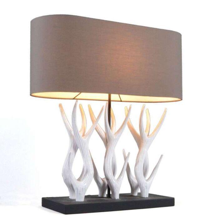 Stolová-lampa-Yindee-Recta-s-hnedým-odtieňom