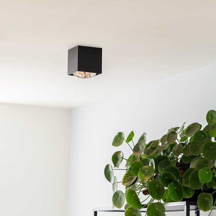 Dizajnový-bodový-štvorec-1-svetlo-čierna-vrátane-1-x-G9---krabica