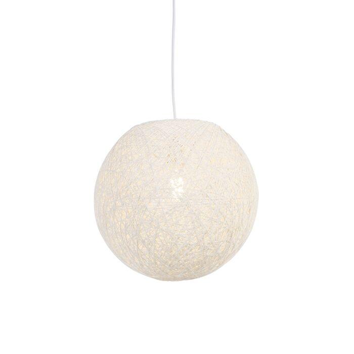 Vidiecka-závesná-lampa-biela-35-cm---Corda