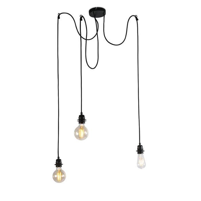 Priemyselná-závesná-lampa-čierna---Cava-3