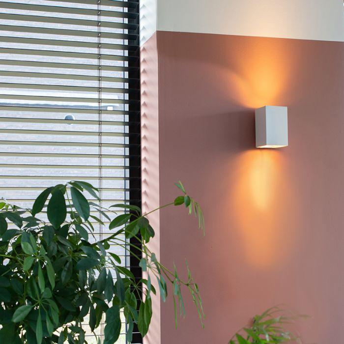 Moderné-nástenné-svietidlo-hranaté-biele---Sandy