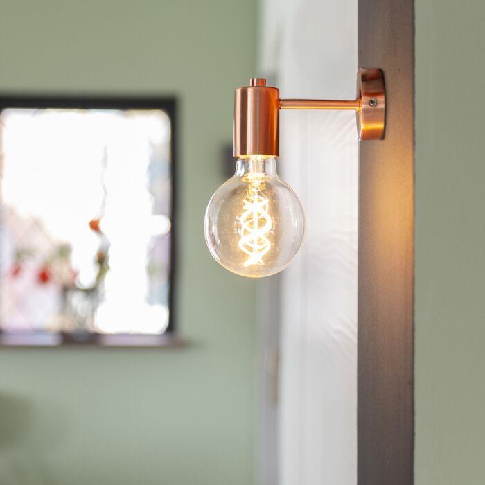 Nástenná-lampa-v-štýle-art-deco-medená---Facil-1