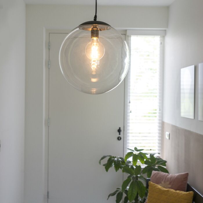 Moderná-závesná-lampa-priehľadná-35-cm---Pallon