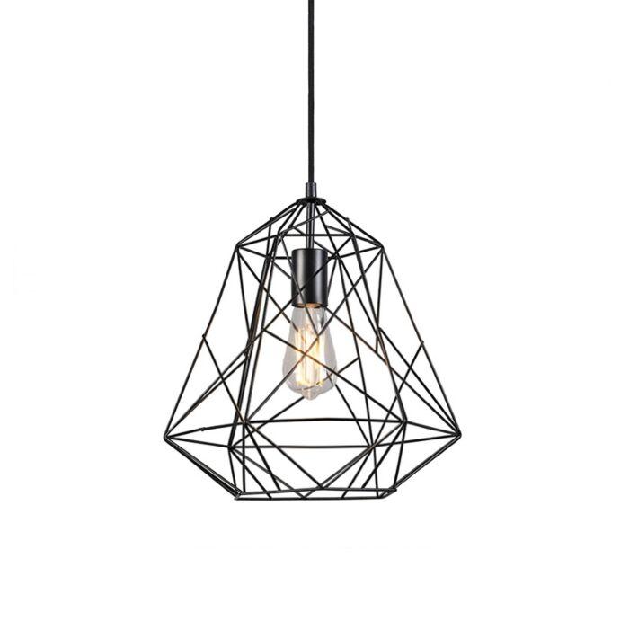 Priemyselná-závesná-lampa-čierna---Framework-Basic