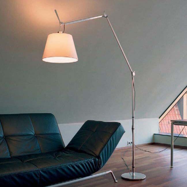 Podlahová-lampa-hliníková-s-tienidlom---Artemide-Tolomeo-Mega-Terra