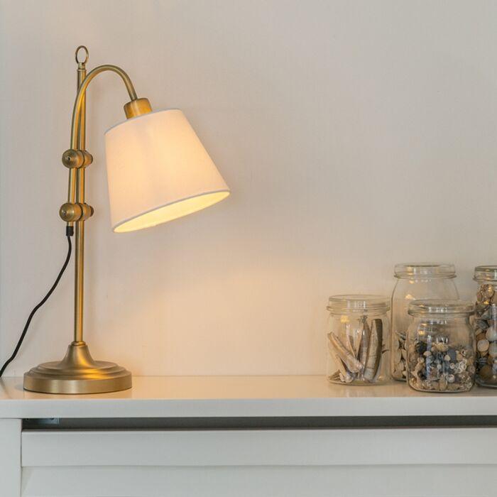 Klasická-stolová-lampa-bronzová-s-bielym-tienidlom---Ashley