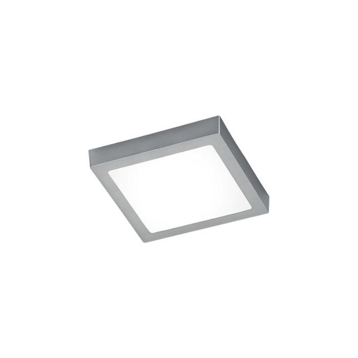 Moderné-hranaté-stropné-svietidlo-oceľové-so-sklom-vrátane-LED---Boy