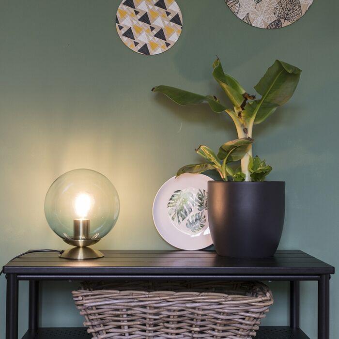 Stolná-lampa-v-štýle-art-deco-mosadz-s-modrým-sklom---Pallon