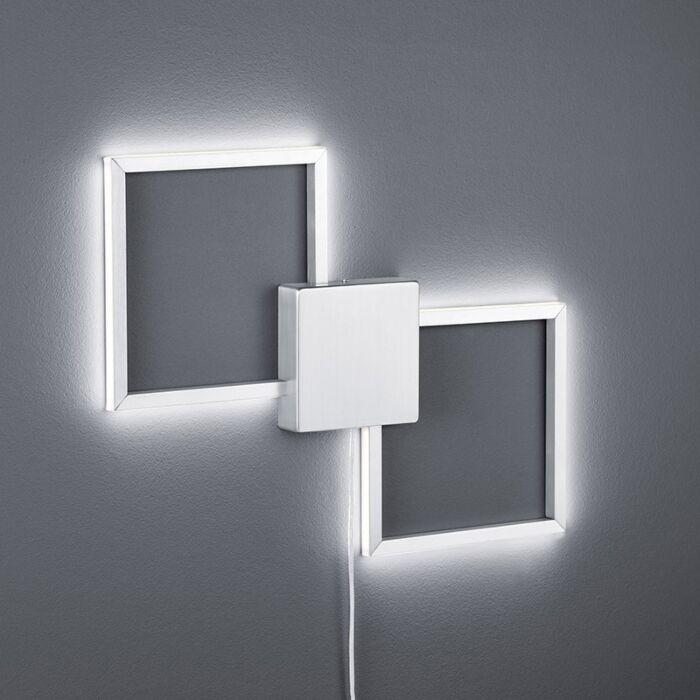 Moderné-nástenné-svietidlo-oceľové-vrátane-LED---Carpo