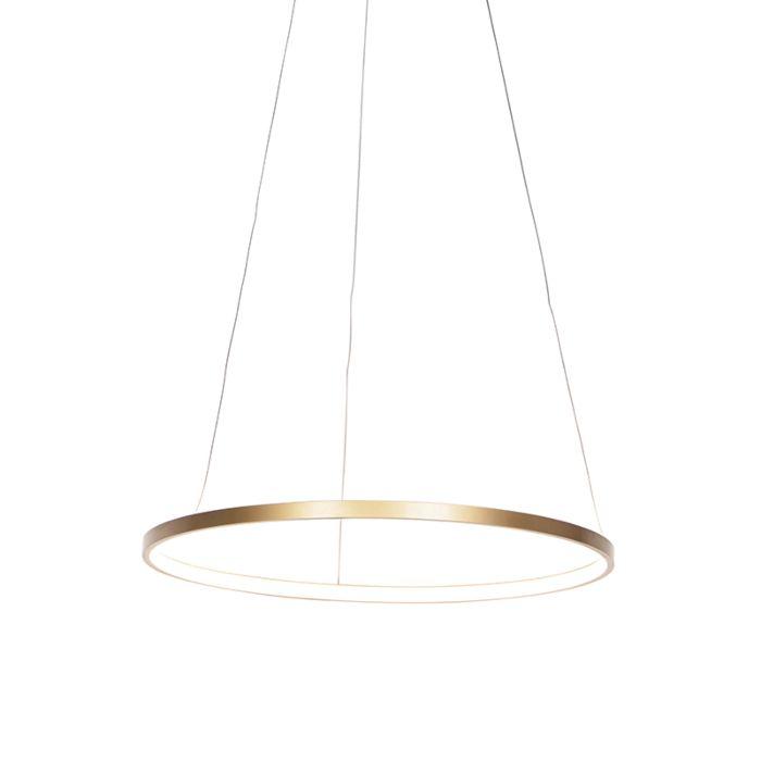Moderné-kruhové-závesné-svietidlo-zlaté-60-cm-vrátane-LED---Anella