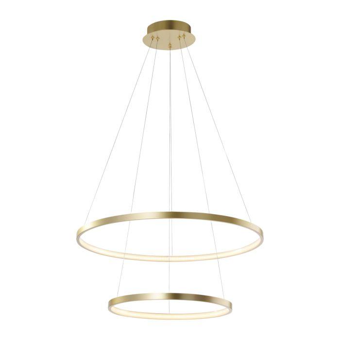 Moderné-kruhové-závesné-svietidlo-zlaté-vrátane-LED---Anella-Duo