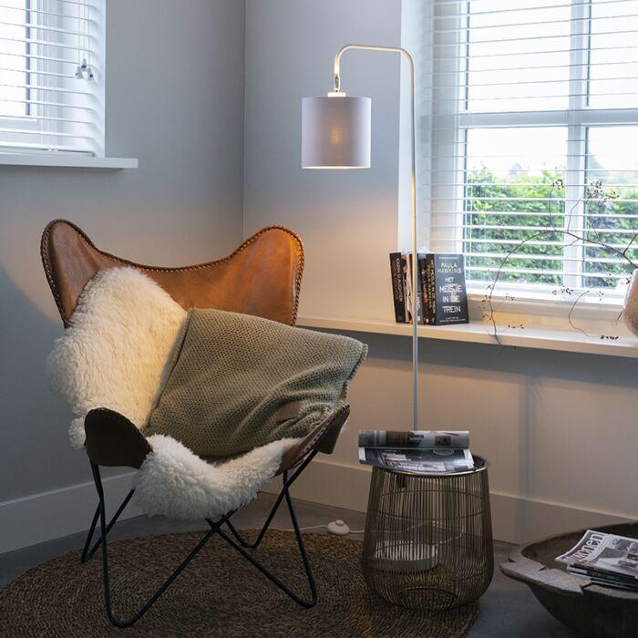 Moderná-stojaca-lampa-biela---Lofty
