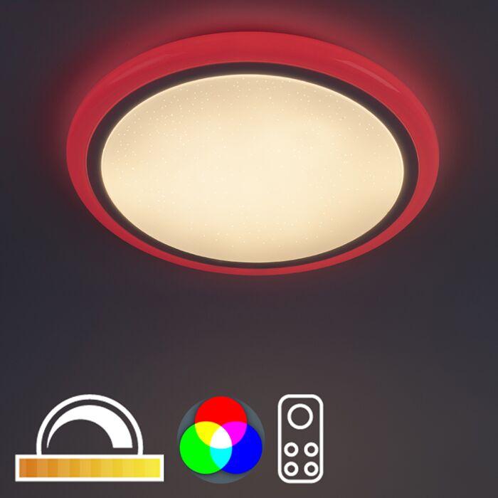 Moderné-stropné-svietidlo-biele-vrátane-RGB-LED-s-diaľkovým-ovládaním---Mars