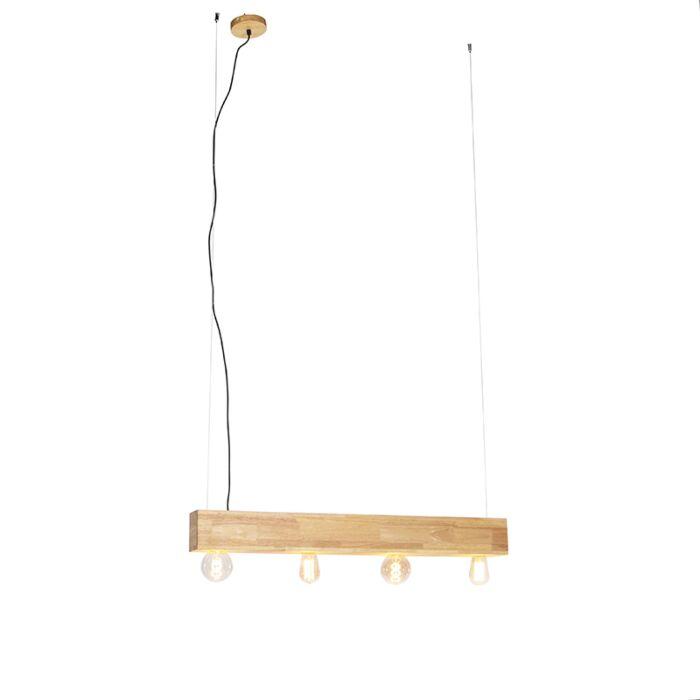 Vidiecka-závesná-lampa-drevená-4-svetlá---Sema