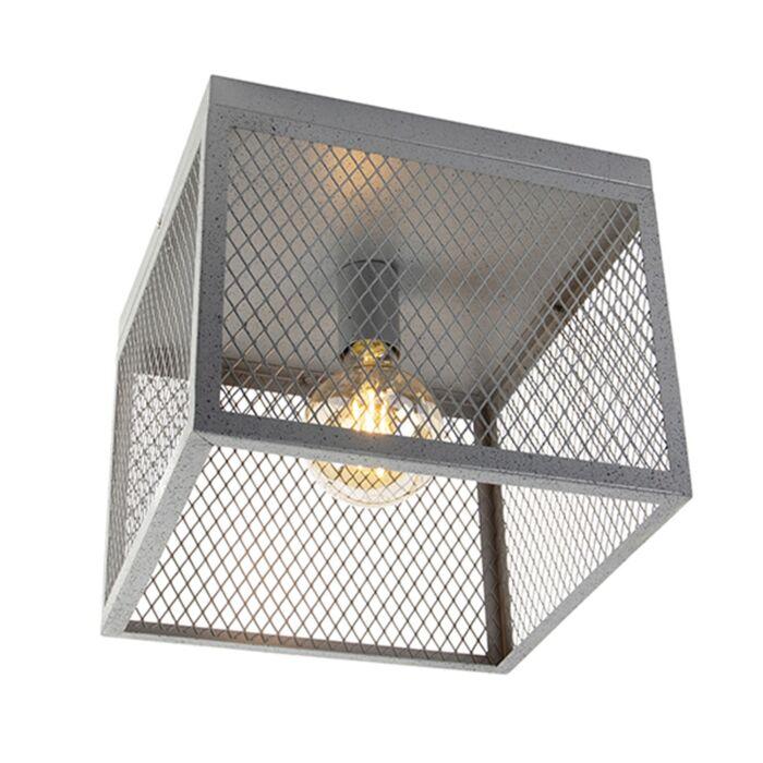 Priemyselné-stropné-svietidlo-starožitné-striebro---Cage-Robusto